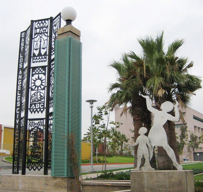 Image: East Los Angeles Civic Center Entrance Marker