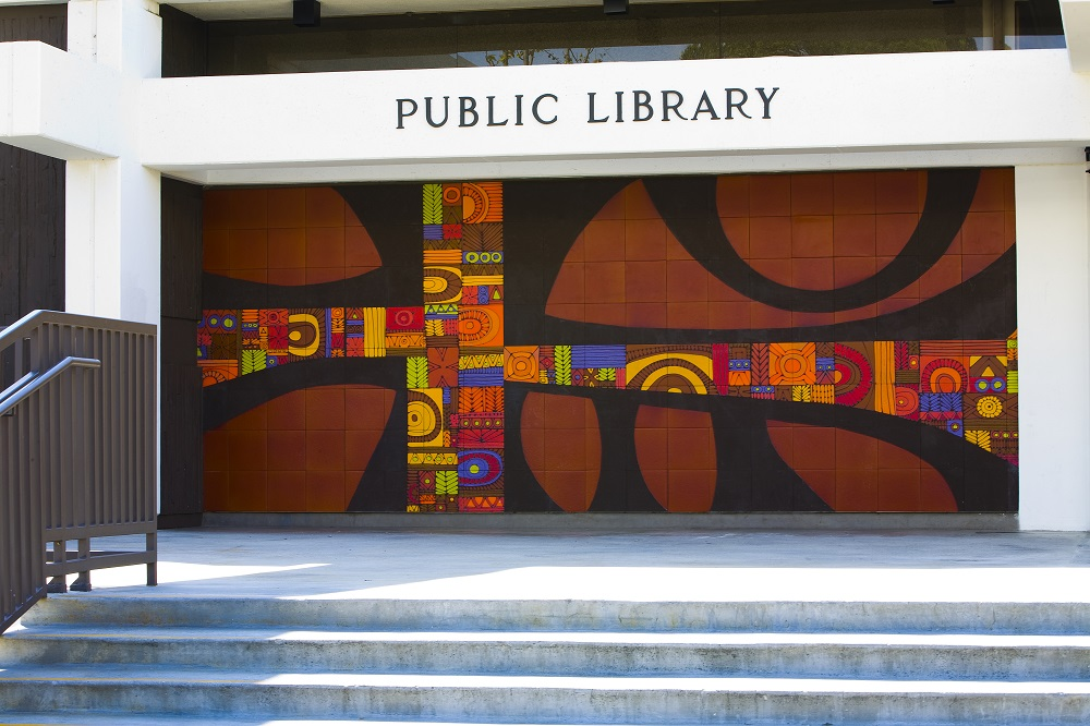 Image: Compton Library Ceramic Mural