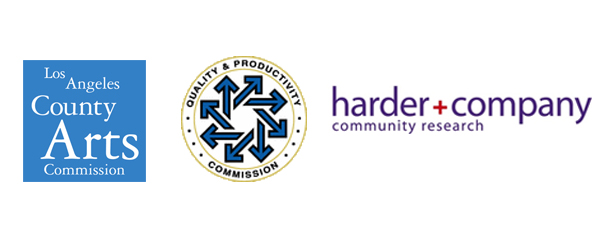 Logos: LA County Arts Commission, Quality & Productivity Commission & Harder & Company