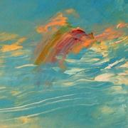 Detail of Water or Sky by Margaret Lazzari