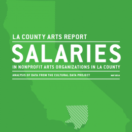 Salaries in Arts Nonprofits in LA County