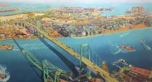 """Vincent Thomas Bridge"" by Susan Logoreci"